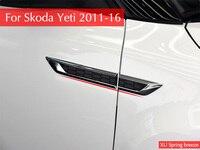 for Skoda Yeti 2011 2012 2013 2014 2015 2016 Side Wing Fender Emblem Badge Sticker Trim Original Car styling