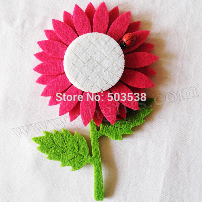 50PCS/LOT,Big sun flower fridge magnet,Kids toys.Early educational DIY.Kindergarten crafts.Gifts.Wholesale