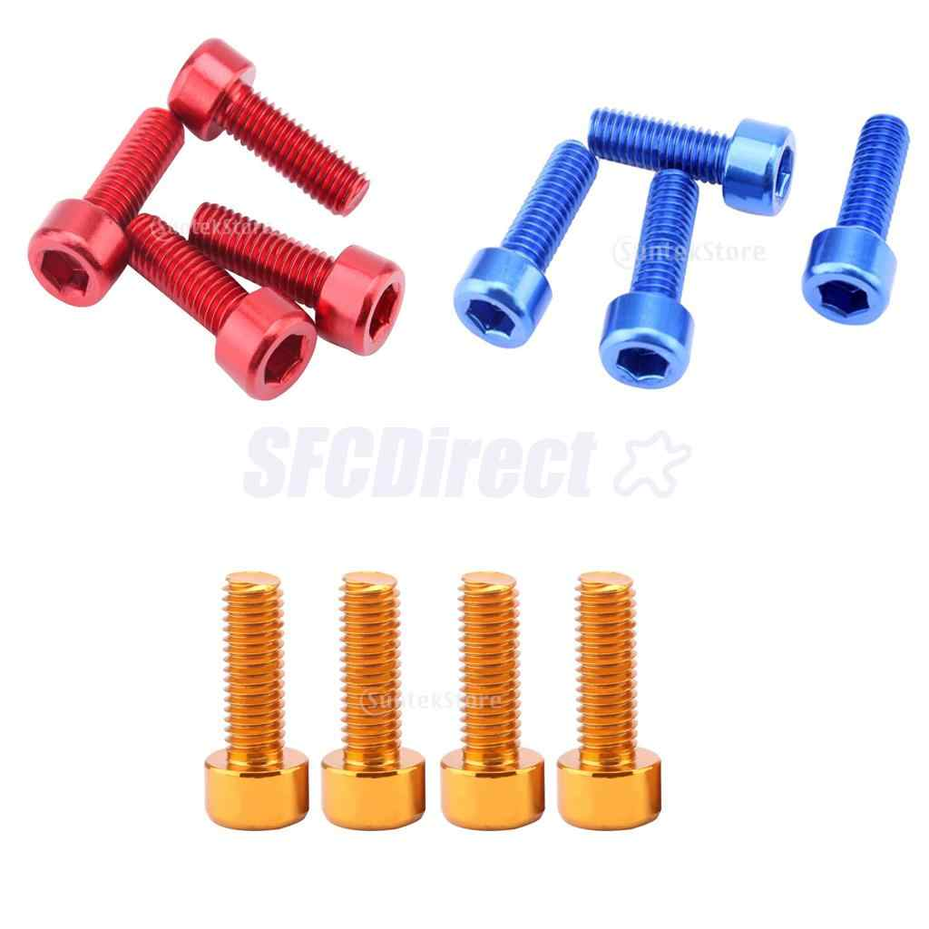 4 Pieces Water Bottle Cage Bolts Alloy Bike Cycle Cycling Gold
