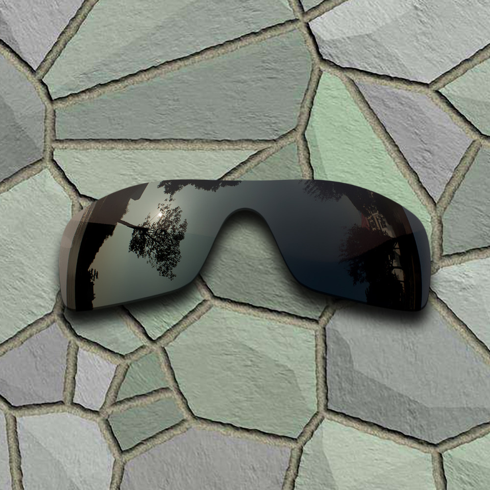 Grey Black Sunglasses Polarized Replacement Lenses For Oakley Batwolf