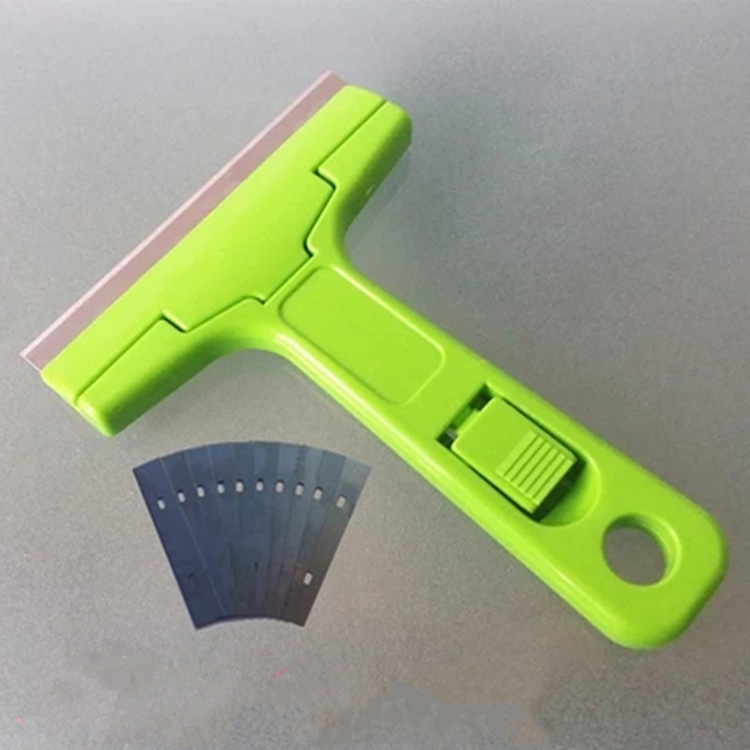 HTB1vhwCkiQnBKNjSZFmq6AApVXai - Portable Handheld Scraper Squeegee Putty knife for Glass Floor Tiles Wall cleaning tool with 10pcs Carbon steel blade