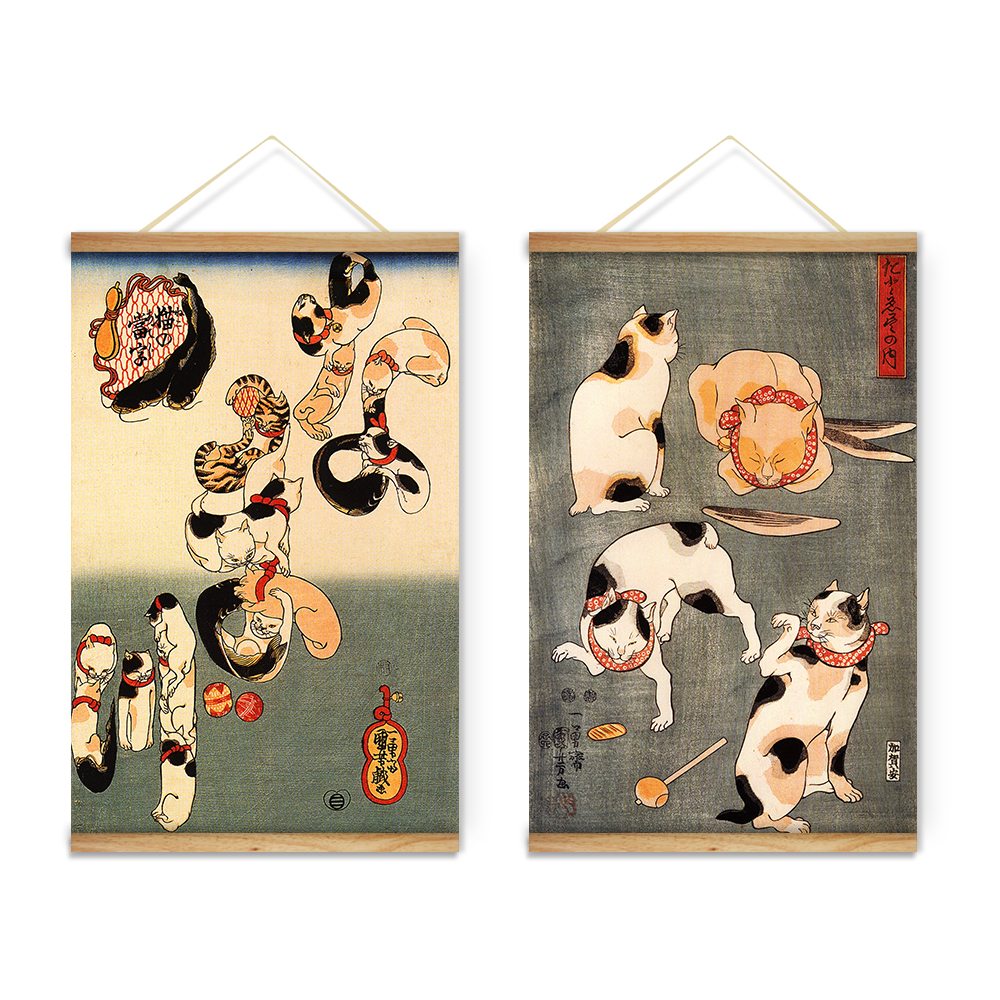 Japanese mascot lucky cat animals decoration wall art for Animals decoration