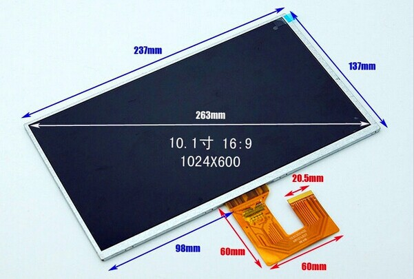 10.1 inch tablet lcd screen Ramos W27 PRO lcd display screen KR101LE0T