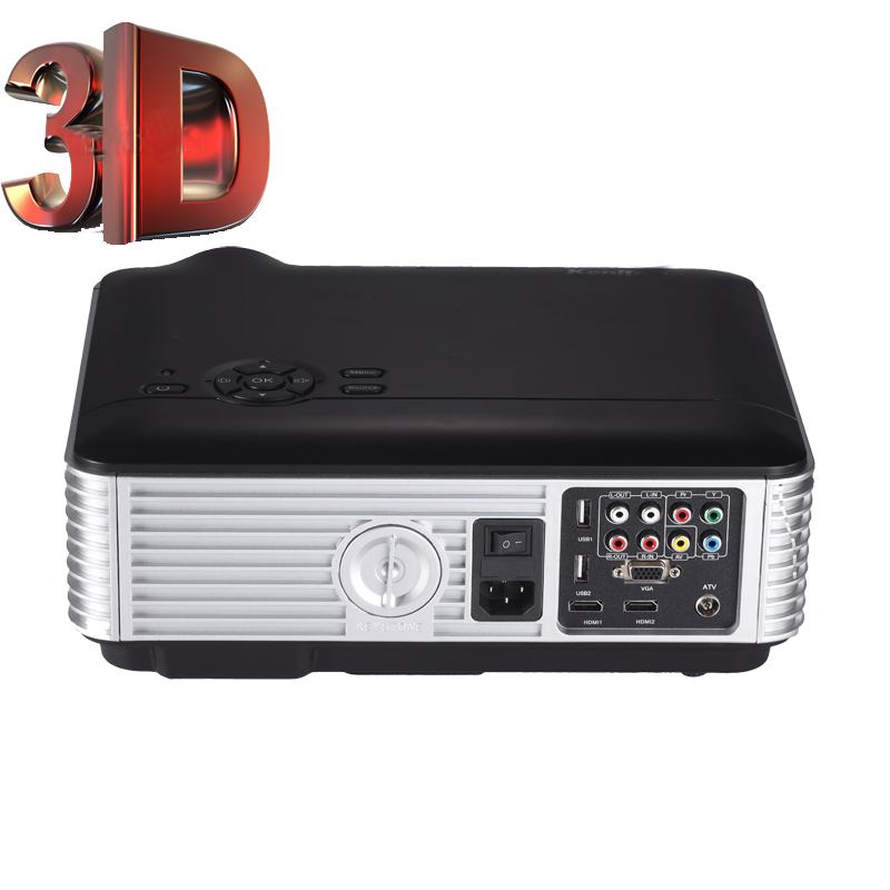 Hiperdeal Home Cinema Theater Multimedia Led Lcd Projector: Full HD 1080p Multimedia 3500 Lumens LCD LED Projector