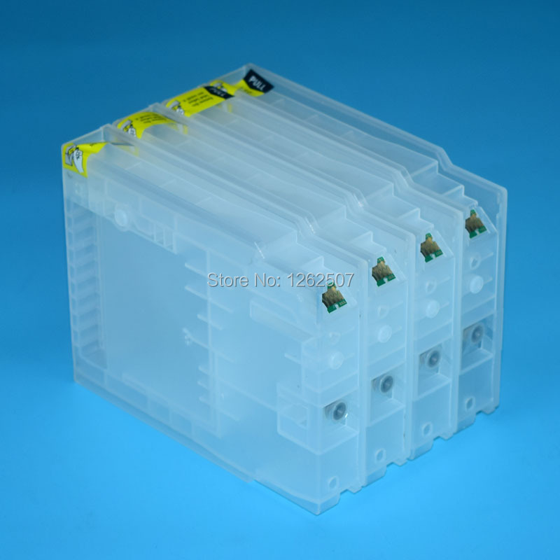 Asia T7521 T7522 T7523 T7524 Bulk Refillable Ink cartridge For Epson WF-6091 WF-6591 WF-8091 WF-8591 Printers t1431 t1432 t1433 t1434 one time used ink cartridge compatible for epson wf 7018 wf 7011 wf 7511 wf 7521