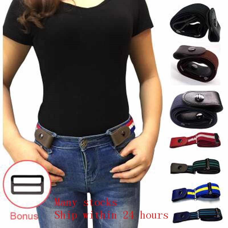 Buckle-Free Belt for Jean Pants Dresses No Buckle Stretch Elastic Waist Belt Women/Men No Bulge No Hassle Generalsize Waist Belt(China)