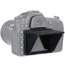 หน้าจอ LCD Protector Pop up Sun Shade LCD HOOD SHIELD สำหรับ Nikon D4 D4S D5 D500 D600 D610 d750 D800 D850 D7100 D7200 D7500
