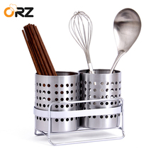 ORZ Kitchen Tableware Shelving Holder Cutlery Storage Drain Rack Shovel Spoon Bucket Knife Fork Storage Basket Kitchen Organizer