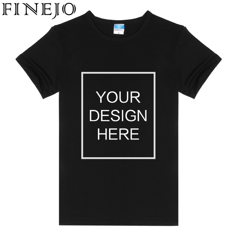 FINEJO DIY T-Shirts Tops Women Summer Casual Custom Design Logo Printed Personalized Sol ...