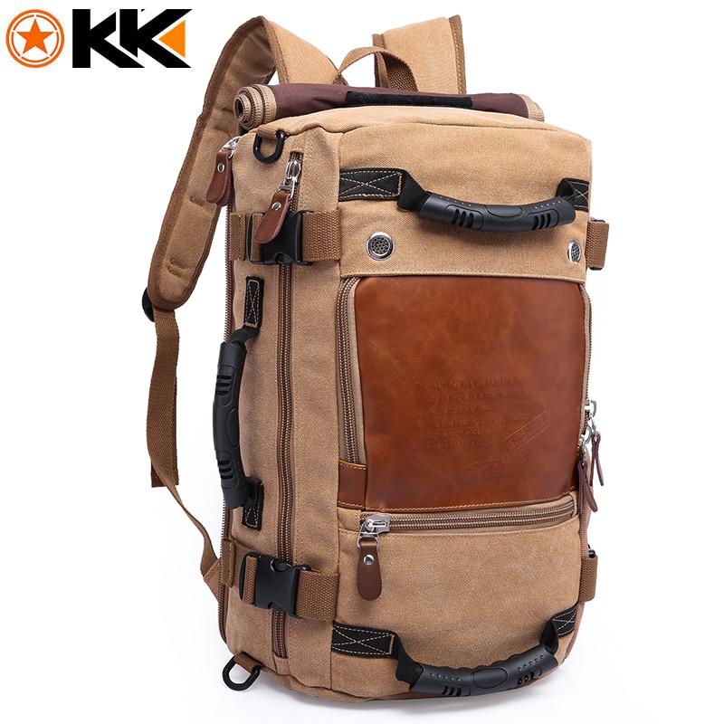 KAKA Large Capacity Female Canvas Backpack Male Computer Travel Bags Backpacks for Men Waterproof Duffel Luggage Shoulder Bag