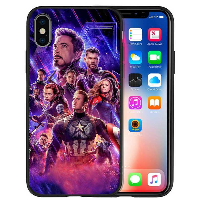 Роскошные Marvel Мстители танос Железный человек Тор чехол для телефона для iphone 8 7 X XS Max XR 6 7 8 плюс 5S SE чехол Etui принципиально