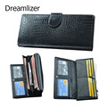 3 Fold Genuine Leather Women Wallet Hasp Crocodile Female Clutch Purse Brand Leather Money Bag Wallet Women Card Holder