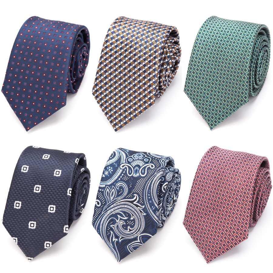 الرجال الفاخرة التعادل الرسمي للعلاقات الجاكار المنسوجة منقوشة ربطة العنق الزفاف ربطة رجل قميص رسمي للأعمال اكسسوارات Corbatas Para Hombre