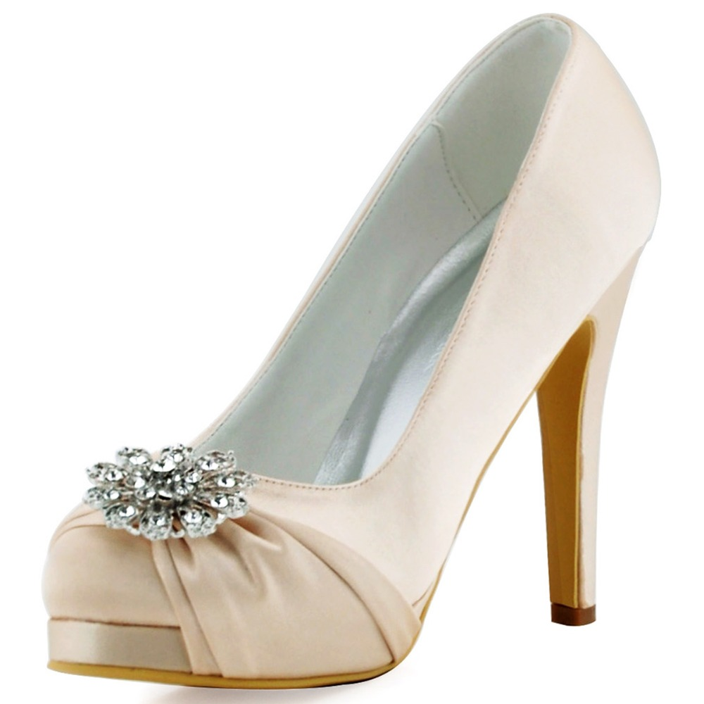 Gold High Heel Bridesmaid Name Champagne Party Wedding: EP2015 PF Silver Champagne Women Bride Bridesmaids Evening