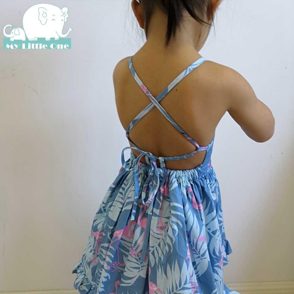 MyLittleOne/2019 г., винтажное летнее платье с цветочным принтом для маленьких девочек