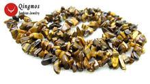 """Женское Ожерелье с натуральным тигриным глазом qingmos 32 """""""