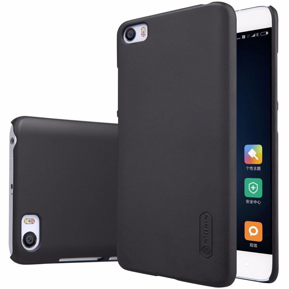 Xiaomi mi 5 Cas de couverture de NILLKIN Super Givré Bouclier dur cas de couverture arrière avec protecteur d'écran et l'emballage de Détail