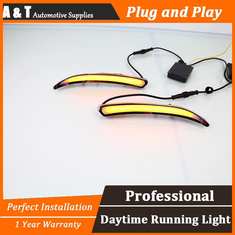 car styling For Buick Regal LED DRL For Buick Regal led fog lamps led daytime running lights High brightness guide LED DRL