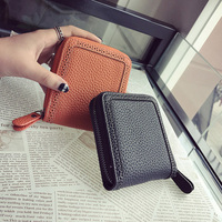 Budalaa PU Leather Short Women Wallet Money Clip Key Holder Soft Totes Coin Purse For Men