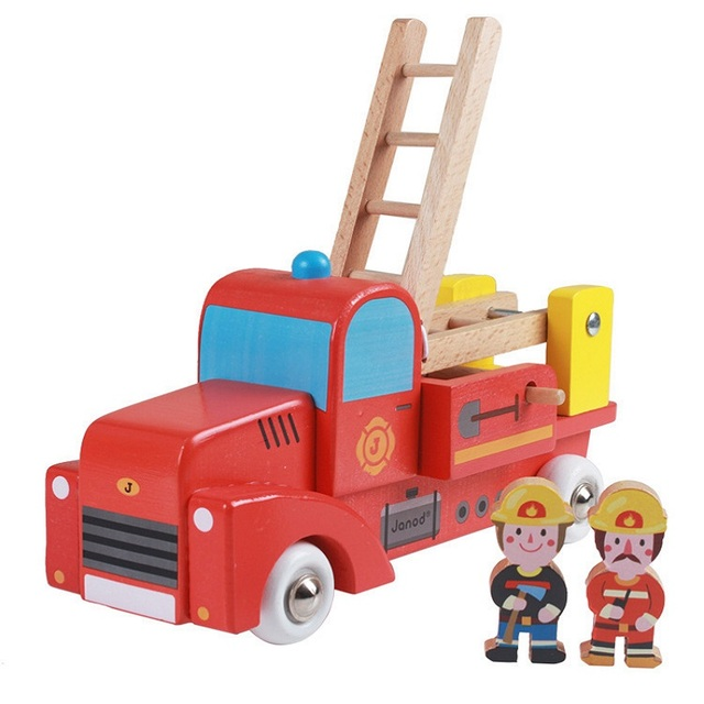 Kid's Soft Wooden Truck Set Educational Toy High Quanlity Gift For Boys Infant Playing