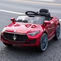 Precio especial de los niños eléctrica dual de coche para los niños de cuatro rueda de control remoto puede sentarse vehículo bebé juguete coche con varilla de empuje