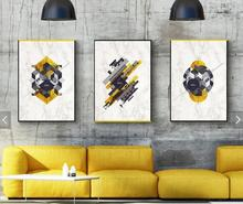 Abstract Geometric Canvas Paintings Black White Nordic Scandinavian Posters Prints Wall Art Oil Picture for Living Room Unframed