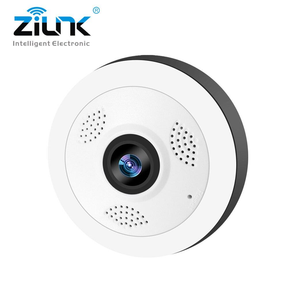 ZILNK WIFI Caméra 360 Degrés 1080 p 960 p HD Sans Fil IP Caméra de Sécurité À Domicile Intérieur Panoramique Fisheye CCTV Vidéo caméra SD Carte