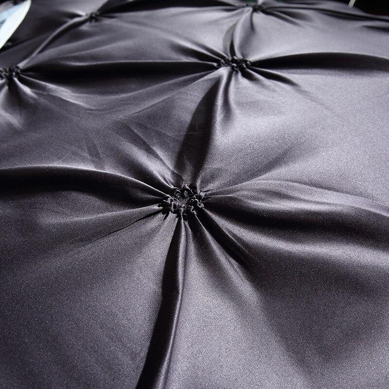Image 2 - LOVINSUNSHINE Luxury Duvet Cover Bedding Set King Size Silk Bed Linen Duvet Cover Set Queen Black AC02#-in Bedding Sets from Home & Garden