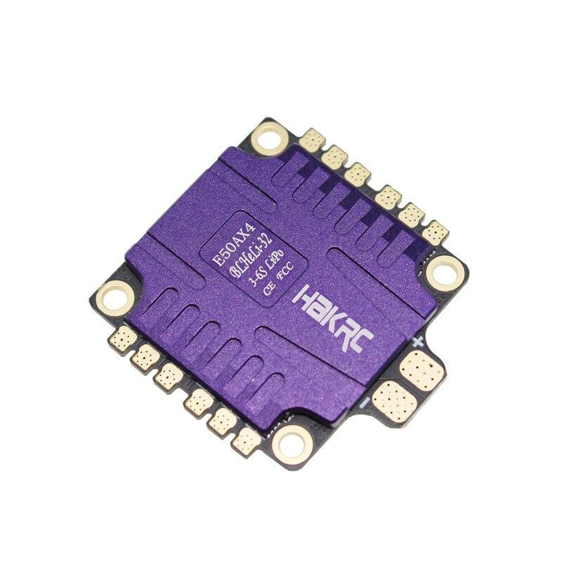 1 pc hakrc blheli 32 bit 50a 4 em 1 módulo esc 5 v/3a controle de velocidade eletrônico para rc zangão fpv aeronaves peças de reposição acesso