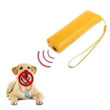 Ultrasound Pet Dog Repeller Anti Barking Stop Bark Training Device Trainer LED Ultrasonic 3 in 1 Anti-barking