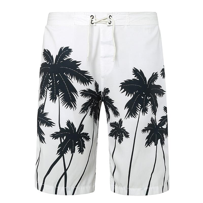 Beach   Shorts   Men   Board     Shorts   Hawaiian Printed Mens Polo Boardshorts Swimwear Polyester Quick Dry Swimsuits Trunks Brand