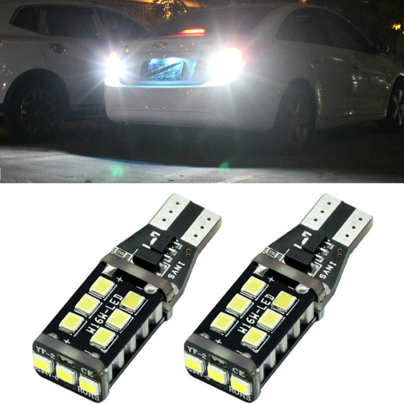 For Ford Focus 2 Fusion Fiesta <font><b>GT</b></font> <font><b>Mustang</b></font> Explorer Sport Trac Escape Edge Crown C-Max Canbus T15 LED Car Backup Reverse Light image