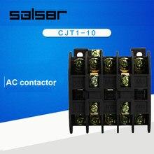 Contattore di CA CJT1-10 Tasso di Tensione della Bobina 2NO 2NC di Controllo Del Motore Universale 36 v 110 v 127 v 220 v 380 v
