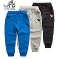 Розничная 3-6 лет брюки сплошной цвет полная длина Спортивные брюки дети детские на весну осень