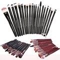 20 UNIDS Completo de Los Ojos de Maquillaje Cepillo de Sombra de Ojos Eyeliner Pencil Blending Pinceles de Maquillaje Fundación Brush Herramientas de Composición