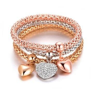 Les bijoux fantaisies les plus vendus de l'année 3 Pièces Arbre de vies, Coeur et d'autres formes 2