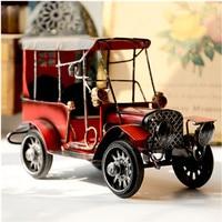 Ornaments zakka Retro Tin car model Retro toys creative gifts Home Furnishing decoration