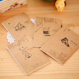 Image 3 - 40 Stks/partij Vintage Piano Viool Drinken Kleine Notebook Papieren Boek Dagboek Notebook Briefpapier Kinderen Geschenken