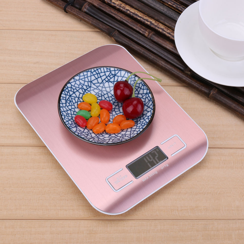 Image 3 - 5kg/1kg Digital Scale Kitchen Cooking Measure Tools Stainless Steel Electronic Weighing Tool LCD Electronic Bench Weight Scales-in Weighing Scales from Tools