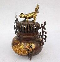 Kaiguang Фэншуй Медь Беспламенного печь для ароматерапии договоренности украшения дома