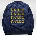 """2017 Новый куртка """"пилот"""" я чувствую себя, как пабло Куртка Мужчины Уличной дворец куртка kanye west 5XL Пальто джастин бибер весенняя куртка мужская"""