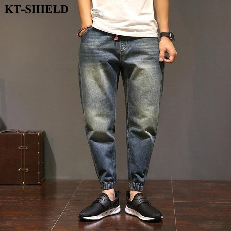Fashion Denim Men Brand Jeans Big Size Hip hop Casual Male Harem Pants Vintage Street Style