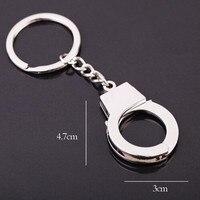 diy car Silver Color New Car Keyring Gift Key Chains Keychain Keyfob Keyring Handcuffs Mini size DIY Key Holder Jewelry Auto Accessories (2)