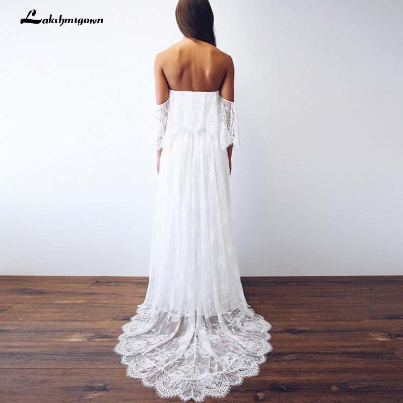 Vestido De Noiva dentelle plage Boho robes De mariée dos ouvert blanc bohème robes De mariée