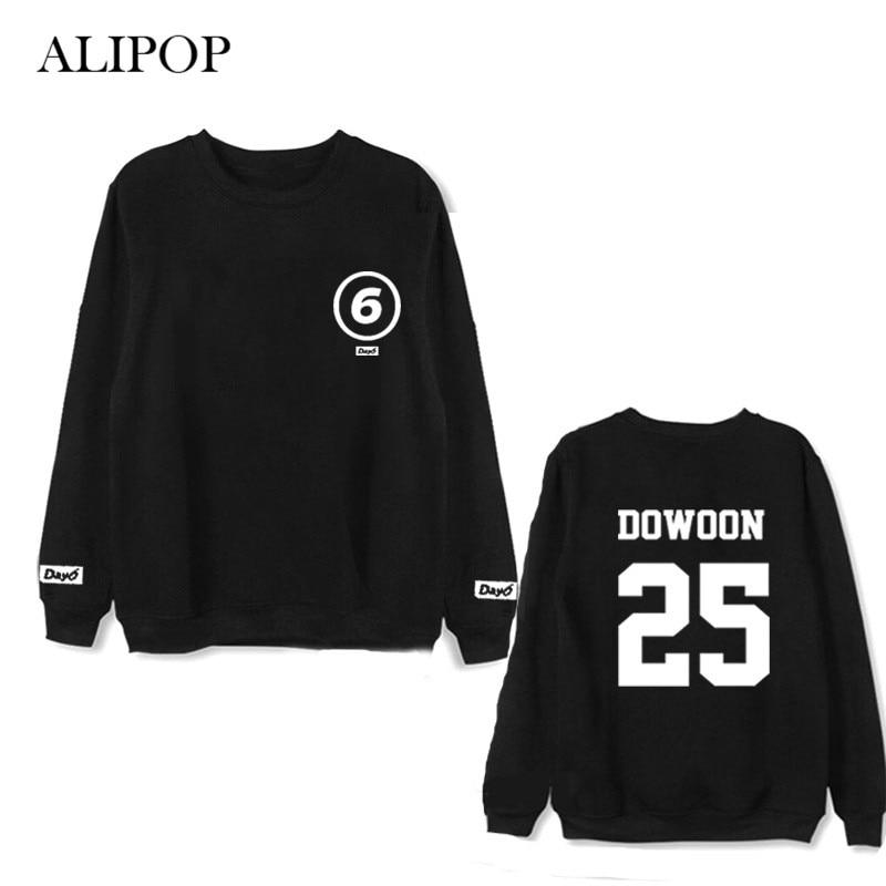 ALIPOP Kpop Day6 Album Thin Hoodie K-POP Casual Cotton Hoodies Clothes Pullover Printed Long Sleeve Sweatshirts WY479