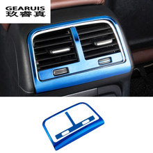 Car styling Rear air conditioning vent decorative frame air outlet trim stickers Covers for Audi Q5 a4 b8 a5 auto Accessories(China)
