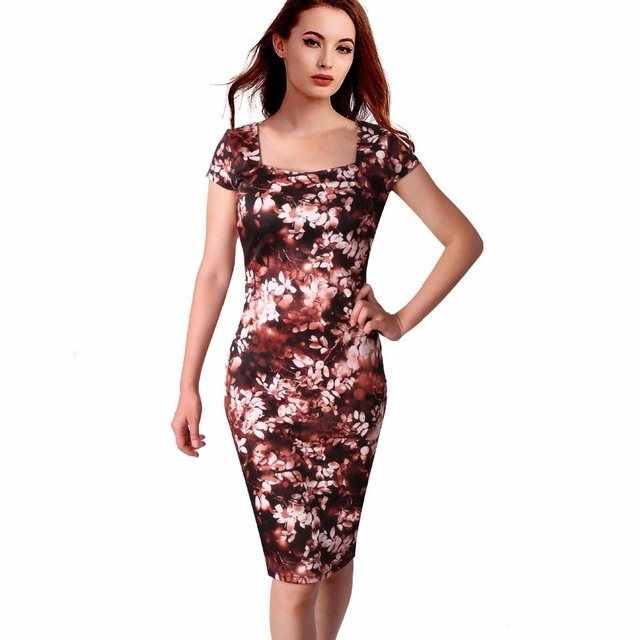 c32c10f0a8 30 Style Floral Print Kobiety Sukienka Elegancka Pracy Business Casual Sukienki  Letnie Płaszcza Vestidos 004-