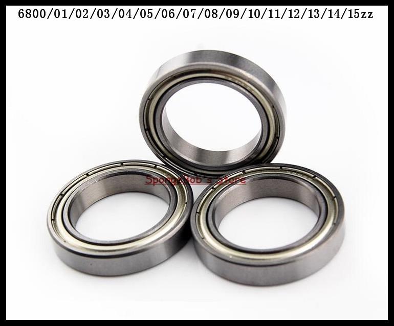 15pcs/Lot 6807ZZ 6807 ZZ 35x47x7mm Metal Shielded Thin Wall Deep Groove Ball Bearing 10pcs 5x10x4mm metal sealed shielded deep groove ball bearing mr105zz