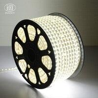 100 м/рулон 5050 Светодиодные ленты 220 V 240 V Мощность теплый белый/чистый белый Водонепроницаемый открытого монтажа светодиодный полосы света 60