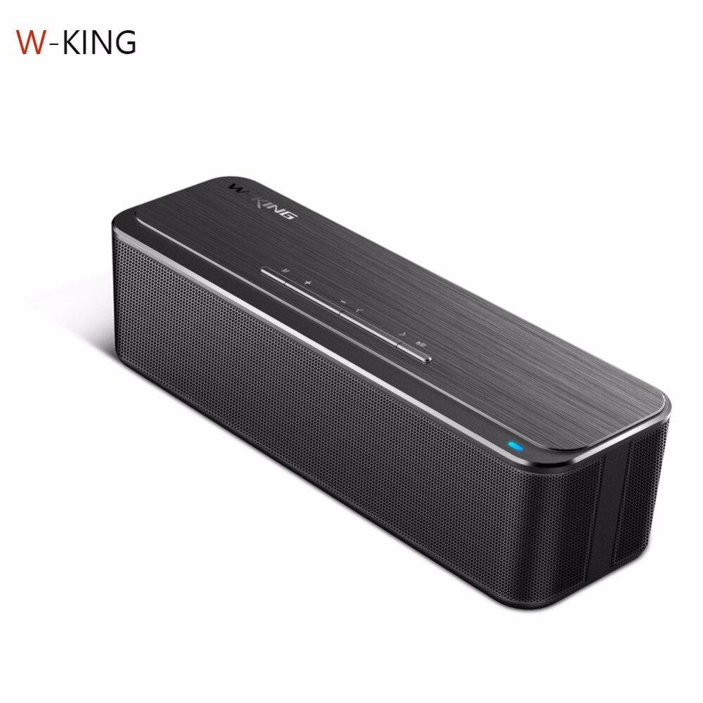 W-King Portable Lossless Bluetooth Speaker 16W 3D Stereo Wireless Computer Alloy Speaker Super Bass HIFI Subwoofer Speaker
